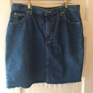 Denim Skirt • Cut Off • Dark awash